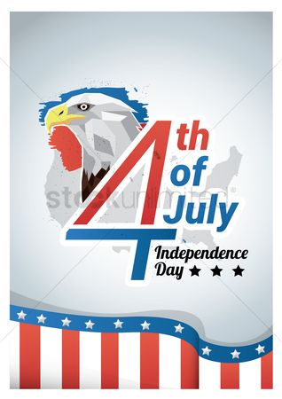 Poster : Fourth of july independence day poster