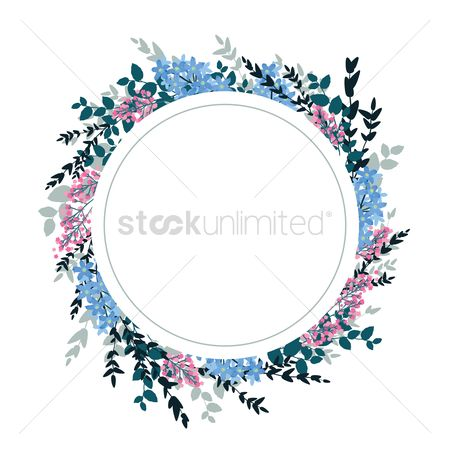 Copy space : Frame with floral design