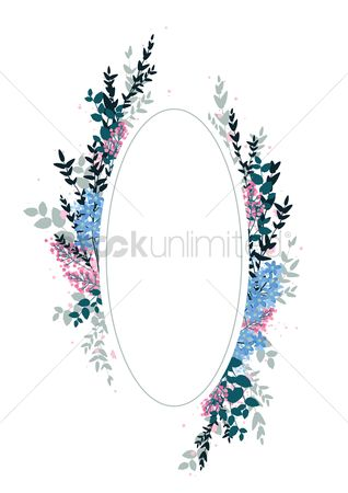 Budding : Frame with floral design