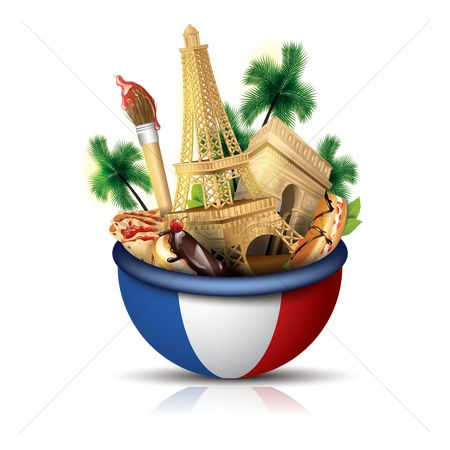Tricolored : France travel concept