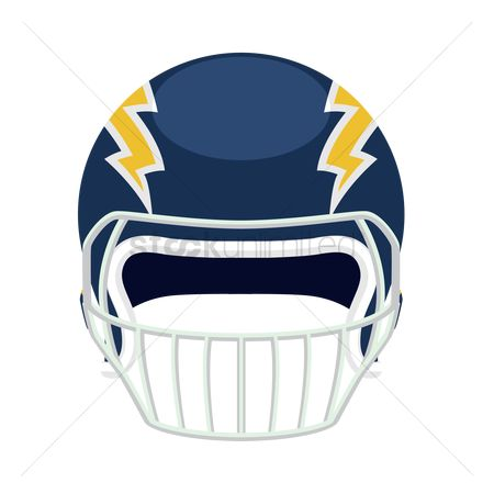 Background : Front view of an american football helmet