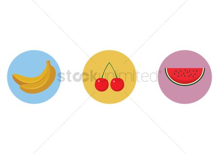 Watermelon slice : Fruit icons