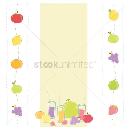 Background : Fruits background with text space