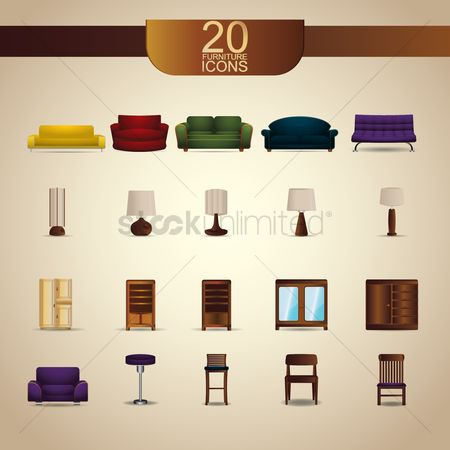 Households : Furniture icons