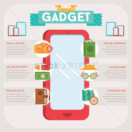 Online shopping : Gadget infographic