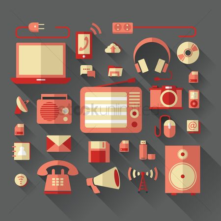 Towers : Gadgets and technology icons