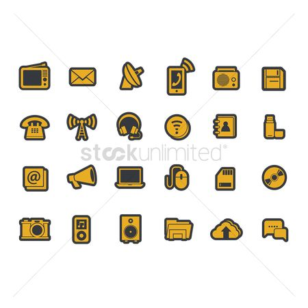 Mobiles : Gadgets and technology icons