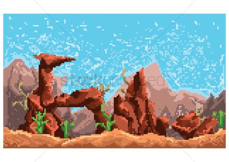 Cactuses : Game background concept
