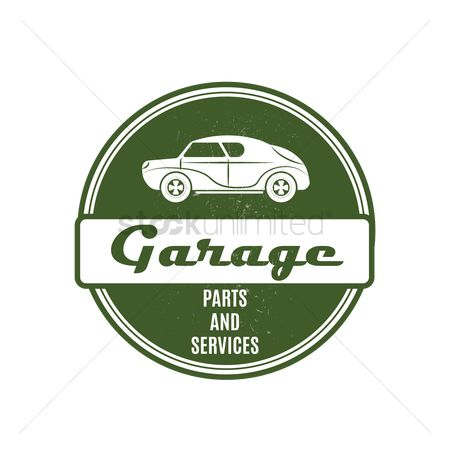 Old fashioned : Garage sign