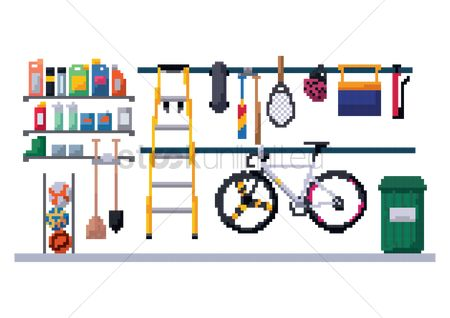 Broom : Garage storeroom
