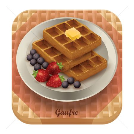 Blueberry : Gaufre