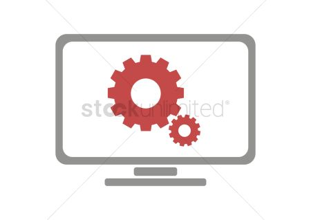 User interface : Gears sign on monitor
