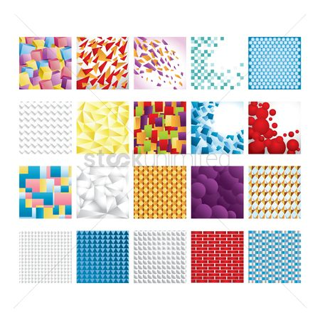 Blocks : Geometric backgrounds