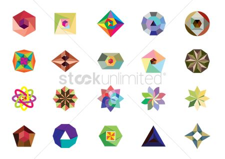 Pentagons : Geometric design collection