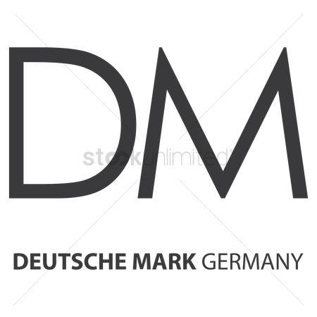Free Deutsche Mark Currency Symbol Stock Vectors Stockunlimited