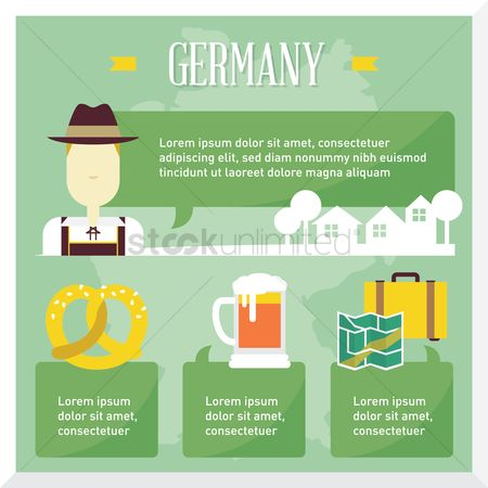 Beer mug : Germany travel infographic