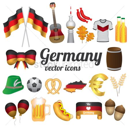 Wheats : Germany vector icons collection