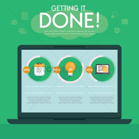 Infographic : Getting it done infographic