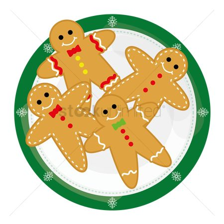 Biscuit : Gingerbread man sticker