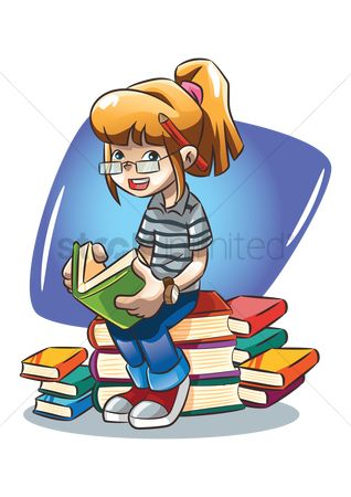 Smart : Girl reading a book