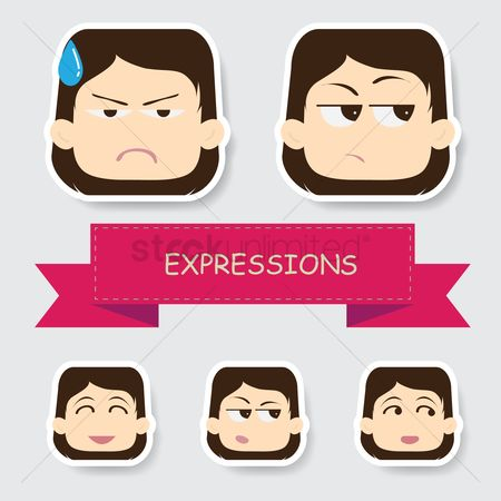 Annoy : Girl with different expression
