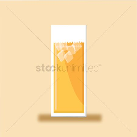 Background : Glass filled with liquid and ice cubes