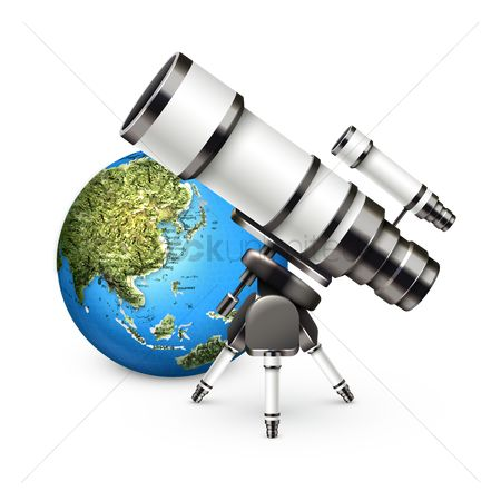 Globe : Globe and telescope