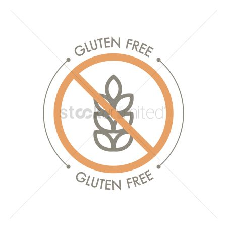 Health : Gluten free label design