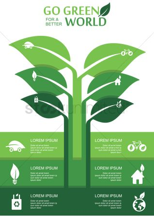 Bicycles : Go green infographic
