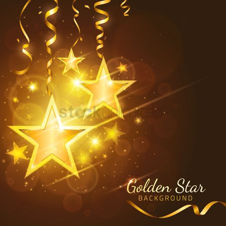 Backdrops : Golden star background