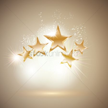 Shine : Golden stars shining