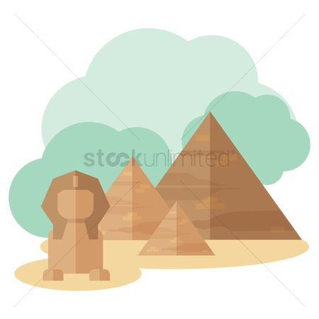 Statues : Great pyramid of giza and great sphinx