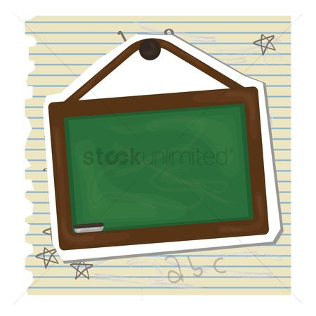 Duster : Green chalkboard