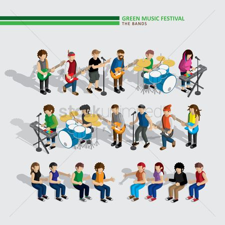 Dancing : Green music festival bands