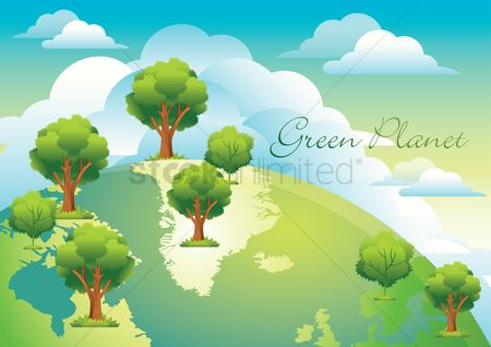 Energy : Green planet poster
