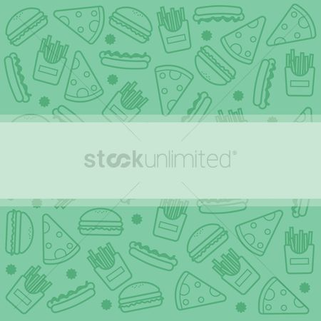 French fries : Greeting card template