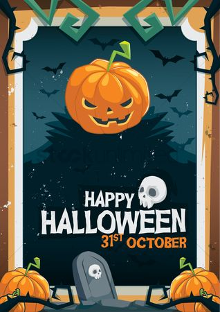 Oct : Halloween background