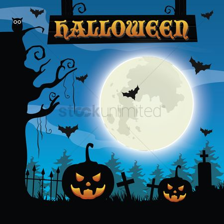 Moon : Halloween background