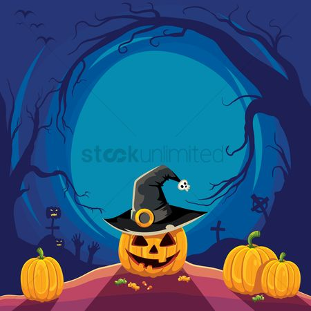 Season : Halloween design with copyspace