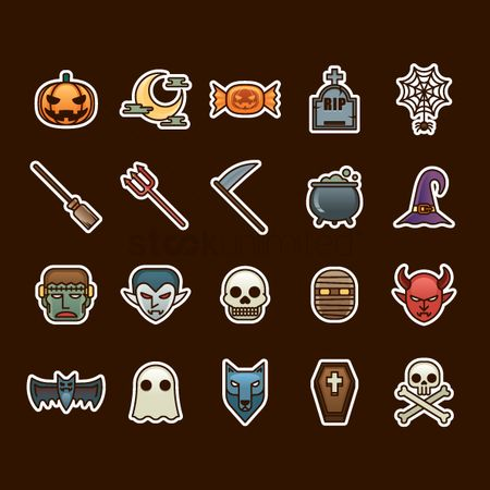 Fruit : Halloween icon set