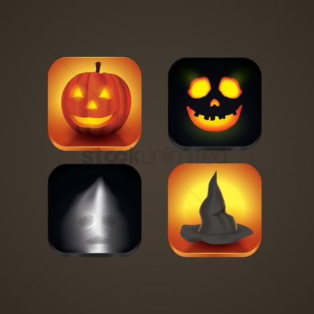 Spirit : Halloween icons set