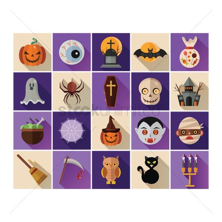 Broom : Halloween themed vectors