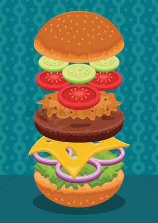 Junk food : Hamburger
