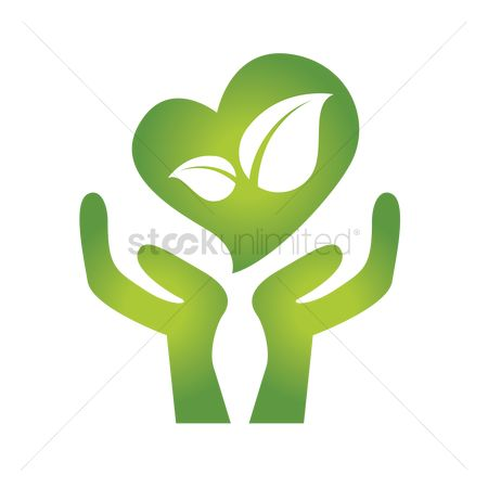 Clean : Hand sign of environmental protection