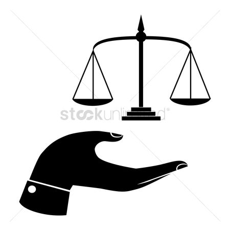 Equality : Hand with a balance scale