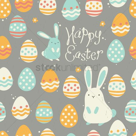Festival : Happy easter background