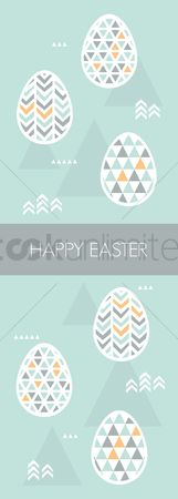 Traditions : Happy easter greeting design
