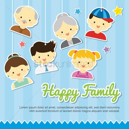 Kids : Happy family