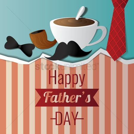Smoking pipe : Happy father s day design