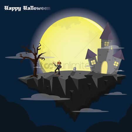 Jack o lantern : Happy halloween wallpaper